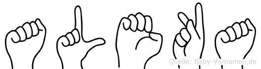 Aleka in Fingersprache für Gehörlose