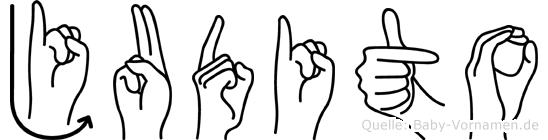 Judito im Fingeralphabet der Deutschen Gebärdensprache