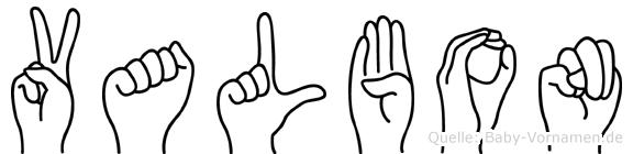 Valbon in Fingersprache für Gehörlose