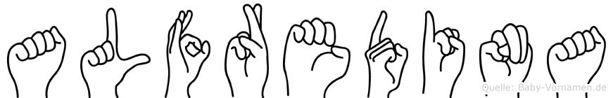 Alfredina in Fingersprache für Gehörlose