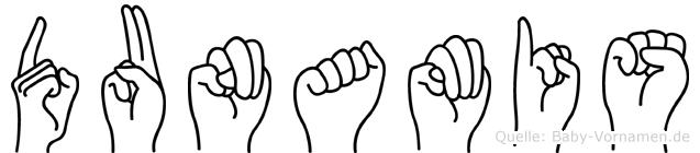 Dunamis im Fingeralphabet der Deutschen Gebärdensprache