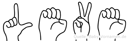 Leve im Fingeralphabet der Deutschen Gebärdensprache