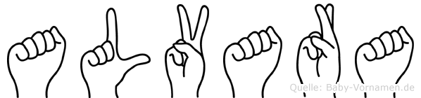 Alvara im Fingeralphabet der Deutschen Gebärdensprache