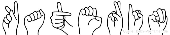 Katerin im Fingeralphabet der Deutschen Gebärdensprache