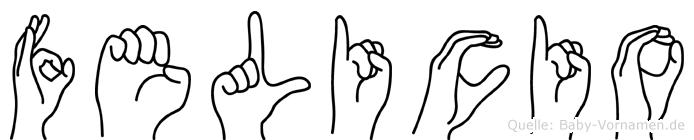 Felicio in Fingersprache für Gehörlose