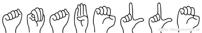 Amabelle im Fingeralphabet der Deutschen Gebärdensprache
