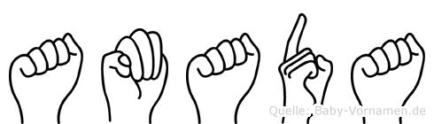 Amada in Fingersprache für Gehörlose