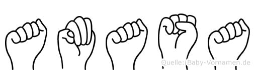 Amasa in Fingersprache für Gehörlose