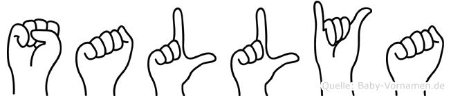 Sallya in Fingersprache für Gehörlose