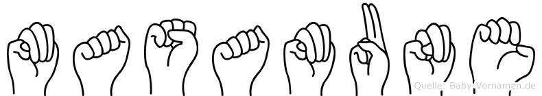 Masamune im Fingeralphabet der Deutschen Gebärdensprache