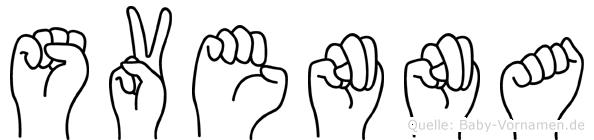 Svenna in Fingersprache für Gehörlose