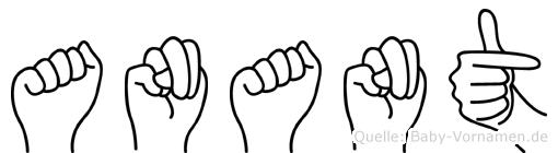 Anant im Fingeralphabet der Deutschen Gebärdensprache