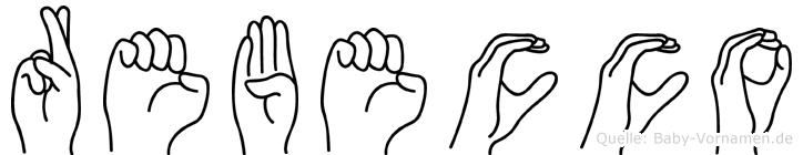Rebecco im Fingeralphabet der Deutschen Gebärdensprache