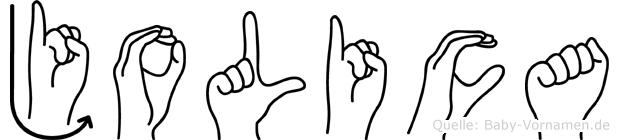 Jolica in Fingersprache für Gehörlose