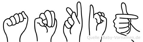 Ankit in Fingersprache für Gehörlose