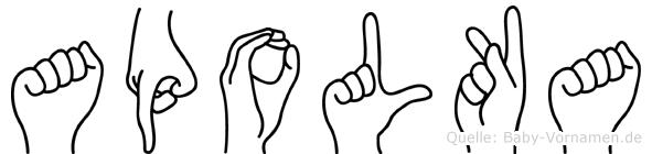 Apolka in Fingersprache für Gehörlose
