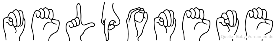 Melpomene im Fingeralphabet der Deutschen Gebärdensprache