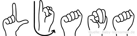 Ljana in Fingersprache für Gehörlose