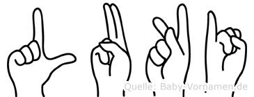 Luki in Fingersprache für Gehörlose