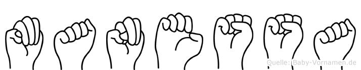 Manessa in Fingersprache für Gehörlose