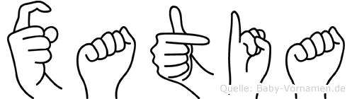 Xatia in Fingersprache für Gehörlose