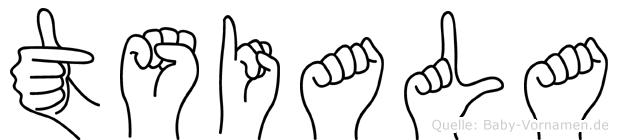 Tsiala in Fingersprache für Gehörlose