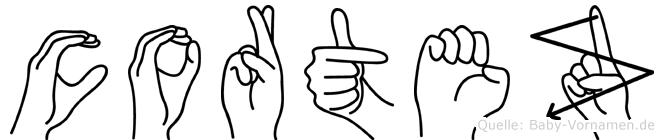 Cortez in Fingersprache für Gehörlose