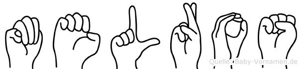 Melros im Fingeralphabet der Deutschen Gebärdensprache