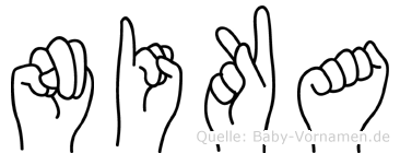 Nika in Fingersprache für Gehörlose