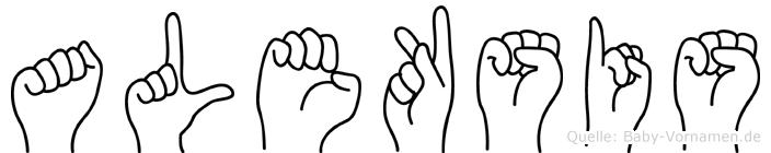 Aleksis in Fingersprache für Gehörlose