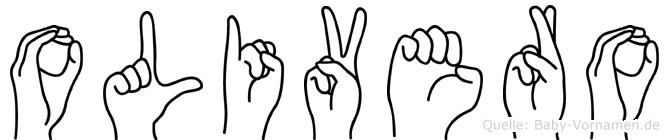 Olivero im Fingeralphabet der Deutschen Gebärdensprache