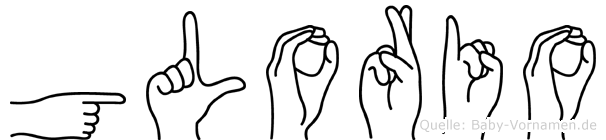 Glorio in Fingersprache für Gehörlose