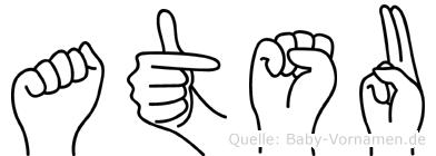 Atsu in Fingersprache für Gehörlose