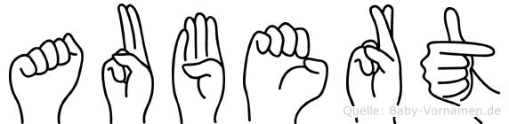 Aubert in Fingersprache für Gehörlose