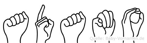 Adamo in Fingersprache für Gehörlose
