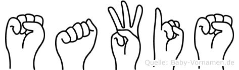 Sawis im Fingeralphabet der Deutschen Gebärdensprache