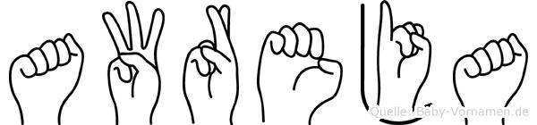 Awreja in Fingersprache für Gehörlose