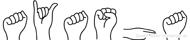 Ayasha in Fingersprache für Gehörlose