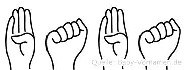Baba in Fingersprache für Gehörlose