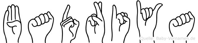 Badriya im Fingeralphabet der Deutschen Gebärdensprache