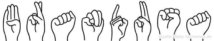 Brandusa in Fingersprache für Gehörlose