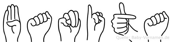 Banita im Fingeralphabet der Deutschen Gebärdensprache
