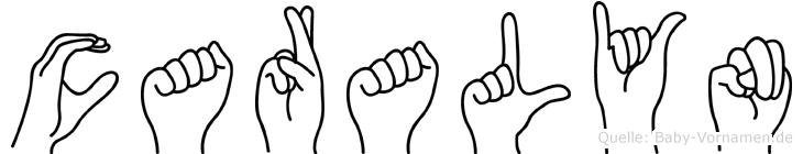 Caralyn in Fingersprache für Gehörlose