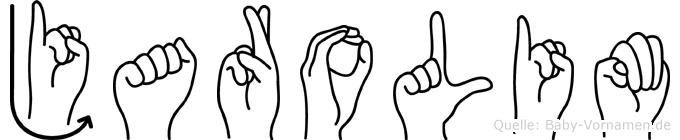 Jarolim im Fingeralphabet der Deutschen Gebärdensprache