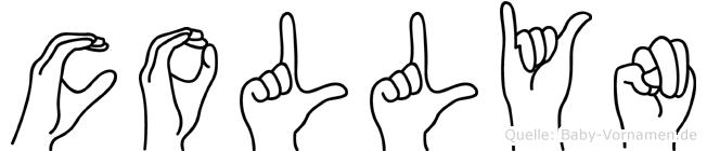 Collyn im Fingeralphabet der Deutschen Gebärdensprache