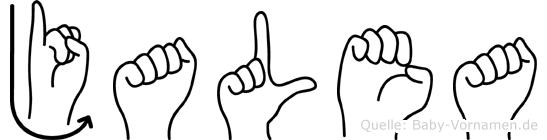 Jalea in Fingersprache für Gehörlose