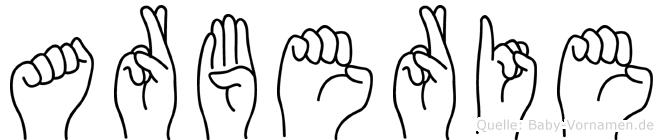 Arberie in Fingersprache für Gehörlose