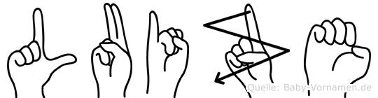 Luize in Fingersprache für Gehörlose