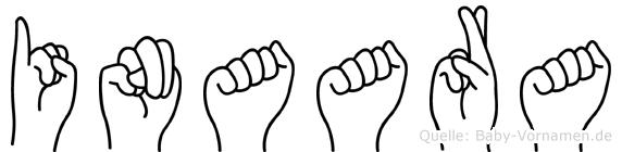 Inaara im Fingeralphabet der Deutschen Gebärdensprache