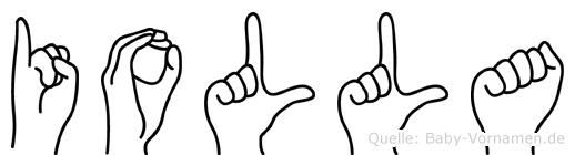 Iolla in Fingersprache für Gehörlose